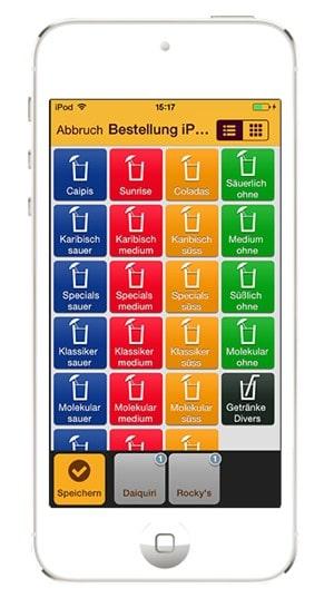 Gastrofix mit iPhone