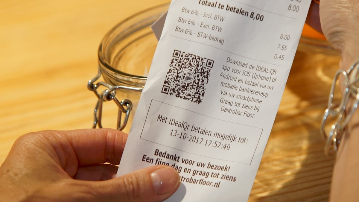 iDEAL-QR-Code-Beleg in den Niederlanden