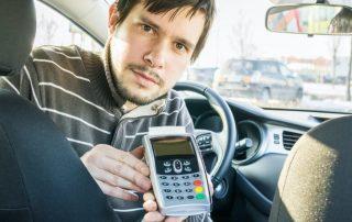 Kartenterminal für Taxi