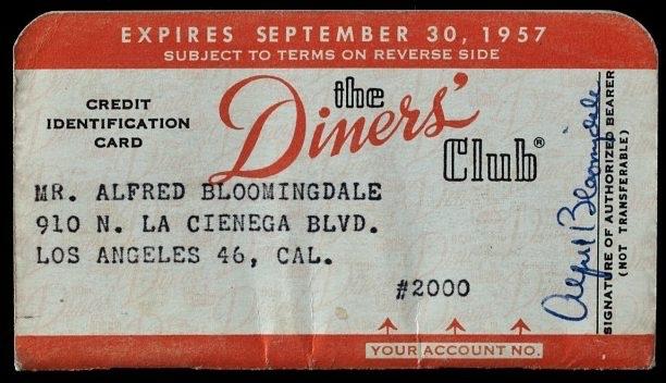 Original Diners Club-Karte