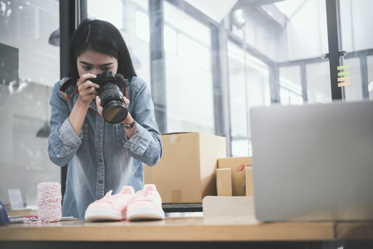 Onlineshop-Produkte fotografieren