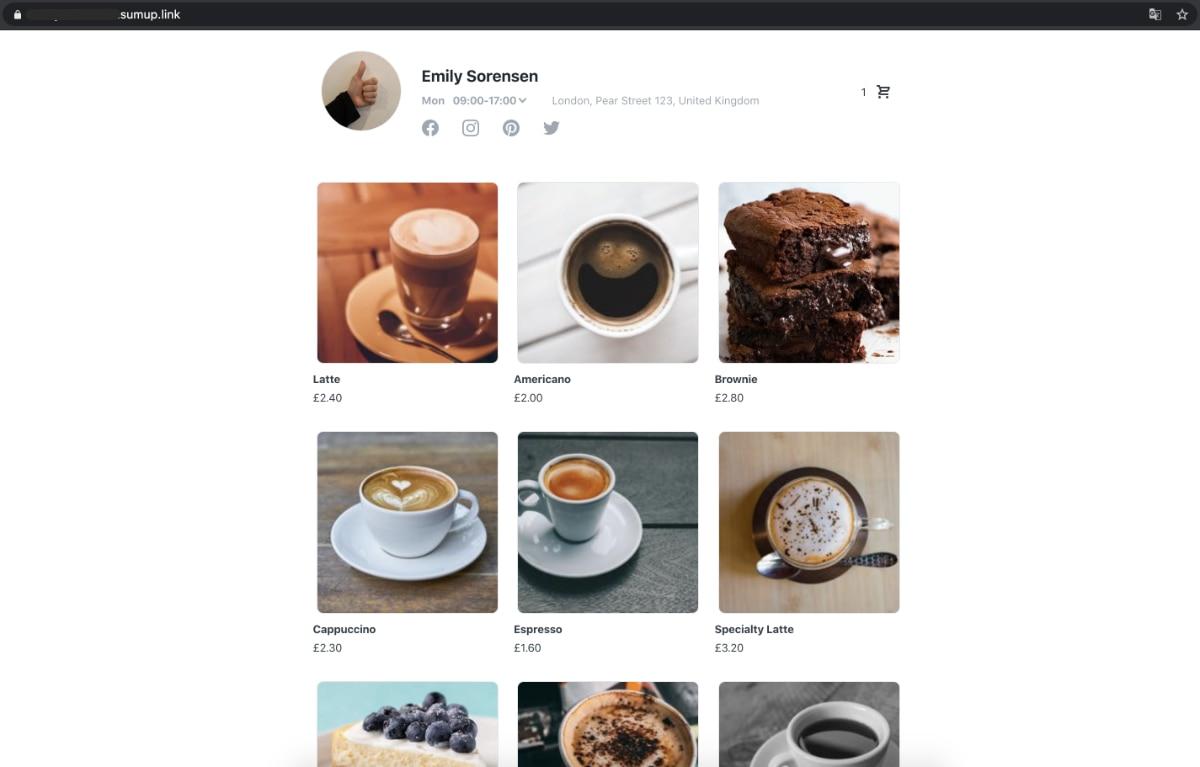 SumUp Onlineshop Starter Desktop