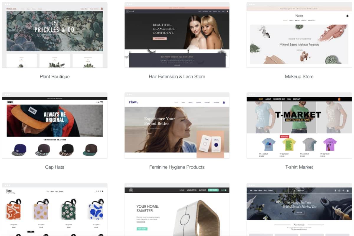 Wix Onlineshop-Vorlagen