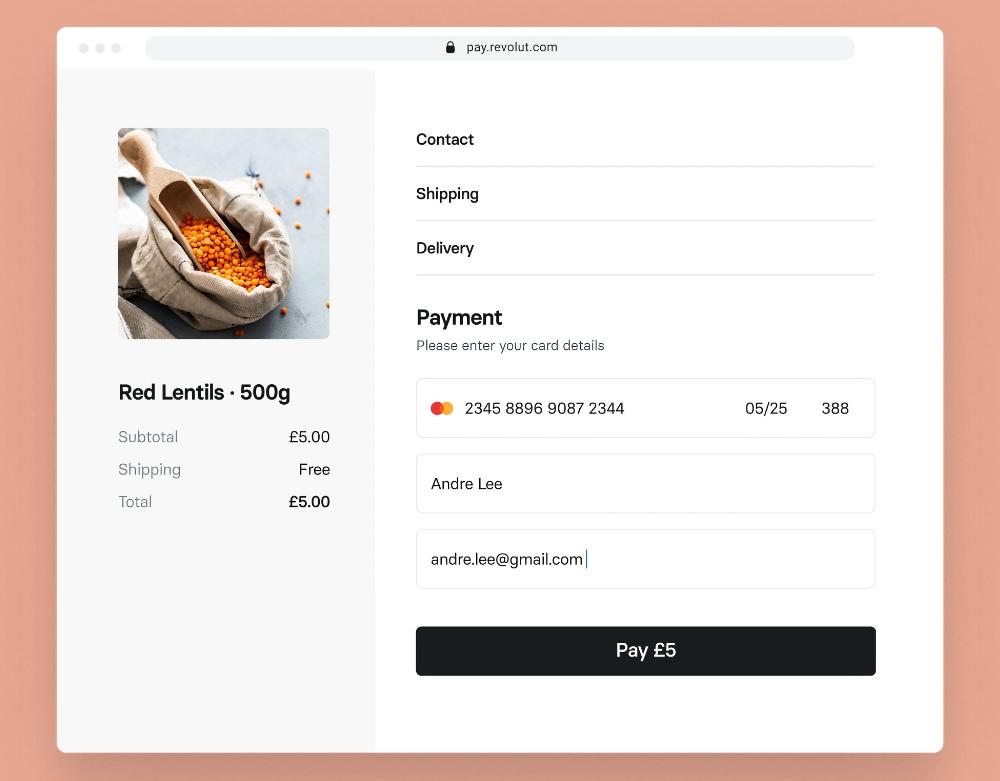 Revolut Online-Zahlungen